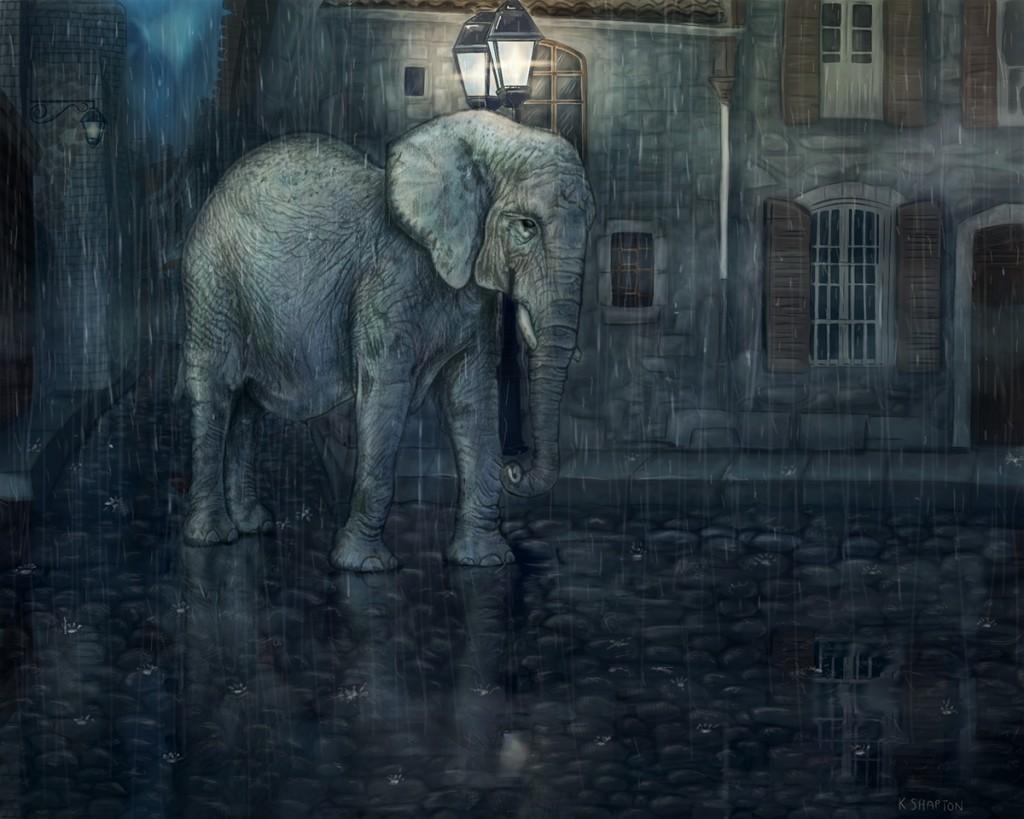 elephant in paris